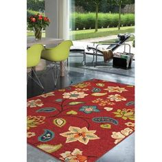 St. Thomas Red Area Rug