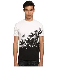 DSQUARED2 DSQUARED2 - CROW CHIC DAN FIT TEE (WHITE) MEN'S T SHIRT. #dsquared2 #cloth #