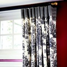Flat Panel with Pleated Top  Add interest to flat-panel drapes by attaching a contrasting fabric folded into three tailored pleats. This type of detail could also be used to update traditional pinch-pleat draperies.