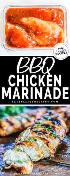 BBQ Chicken with a SECRET ingredient!! The BEST BBQ Chicken marinade is the perfect mixture of sweet and tangy. This recipe is super easy to make and produces the BEST grilled chicken! You can use this Barbecue Chicken Marinade for grilling, baked chicken, or skillet chicken. It makes a great easy dinner the kids will love! #bbq #grill #healthydinner #marinade #easyrecipe Best Bbq Chicken Marinade, Perfect Grilled Chicken, Easy Bbq Chicken, Chicken Marinades, Teriyaki Chicken, Baked Chicken, Chicken Recipes, Skillet Chicken, Grill Recipes