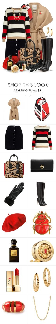 """""""Dare to Mix - Max Mara Striped Sweater & Animalier Shoulder Bag (195)"""" by mischabel ❤ liked on Polyvore featuring Forever New, Givenchy, Miss Selfridge, MaxMara, MCM, MICHAEL Michael Kors, Wilsons Leather, Jimmy Choo, Betmar and Tom Ford"""