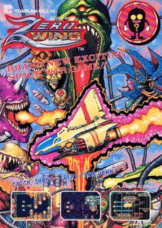 Zero Wing // Toaplan, Japan (1989) #arcade #cabinet #retro #videogames #flyer