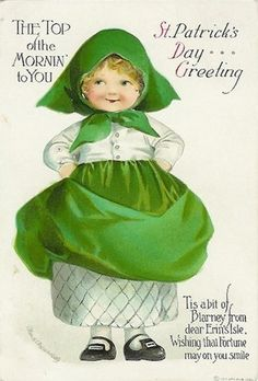 Free Clip Art from Vintage Holiday Crafts » Blog Archive » Free Vintage St. Patrick's Day Cute Kids Greeting Cards little girls, vintage holiday, saint patricks day, clip art, st patricks day, vintage greeting cards, holiday crafts, stpatrick, vintage cards