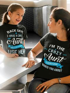 Discover Aunt Limited Edition T-Shirt from Family Shirts, a custom product made just for you by Teespring. - I'm The Crazy Aunt Everyone Warned You About