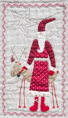 Scandinavian Christmas quilt - detail - design by Lynette Anderson, seen at Jookies (The Netherlands)