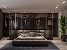 Home Office Quarto Casal Grande 20 New Ideas Bad Room Design, Black Bedroom Design, Luxury Bedroom Design, Bedroom Closet Design, Modern Bedroom Decor, Home Room Design, Master Bedroom Design, Home Bedroom, Interior Design