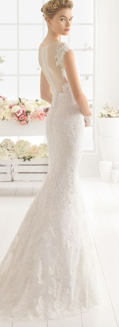 Aire Barcelona mermaid lace wedding dresses 2016 back details