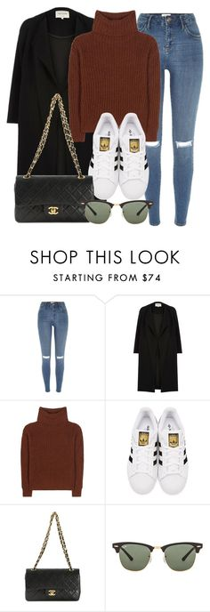 """Untitled #11881"" by vany-alvarado ❤ liked on Polyvore featuring River Island, Loro Piana, adidas Originals, Chanel and Ray-Ban"