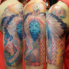 Jimi Hendrix tattoo. Axis Outtakes half sleeve.