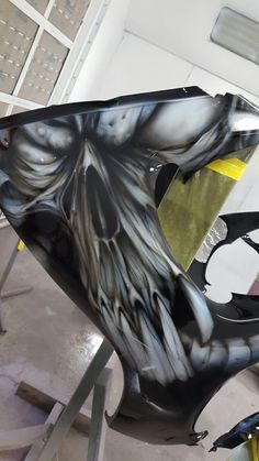 Custom Paint, Airbrush, Batman, Statue, Superhero, Painting, Fictional Characters, Art, Air Brush Machine