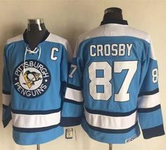 Pittsburgh Penguins #87 Sidney Crosby Blue Alternate CCM Throwback Stitched NHL Jersey