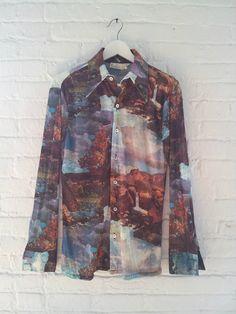 landscape print shirt