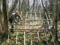 ▶ bushcraft survival long term wilderness shelter part 3 of 7 building the shelter.wmv - YouTube