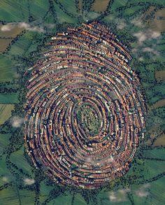 The Human Touch. Fingerprint urbanism by Jacob Eisinger. Amazing Architecture, Architecture Design, Birds Eye View, Urban Planning, Aerial Photography, Photography Ideas, Pinterest Photography, Capture Photography, Photography Lighting