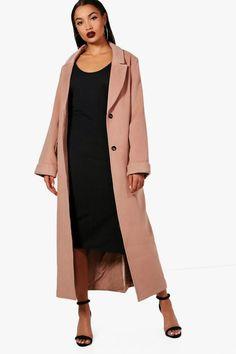 Georgia Oversized Maxi Wool Look Coat