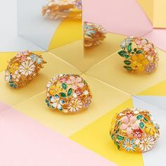 🌿🌸 Clip Earrings 🌼🌿 Haven't got pierced ears? Good news, we've launched clip-on earrings as part of our NEW summer collection!Available in store & online. Still Life Photography, Fashion Photography, Clip Earrings, Store Online, Summer Collection, Ear Piercings, Statement Earrings, Pastels, Good News