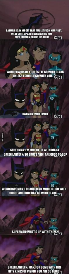 Justice League as Kids. Bruce has no clue as an eight-year-old << Bruce doesn't have a clue as a thirty-year-old - Justice League -- Green Lantern, Superman, Batman, Wonder Woman Dc Memes, Funny Memes, Jokes, Hilarious, Funny Videos, Grudge Match, Rasengan Vs Chidori, Nananana Batman, Justice League Unlimited