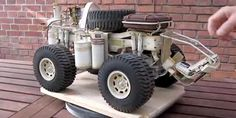 Check Out This Steam-Powered Monster Truck Thing [VIDEO] Rc Hobbies, Rc Cars, Monster Trucks, Action, Check, Group Action