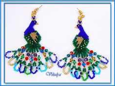 peacocks with bright crystal tail - ACCESSORY GALLERY: Earrings