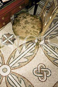 Marble mosaic floor. Gorgeous! http://www.sicis.com/