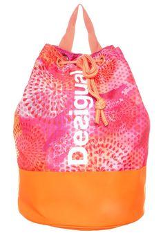 Desigual Plecak różowo-pomarańczowy typu worek living coral