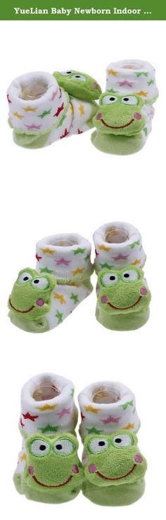 YueLian Baby Newborn Indoor Slipper Socks Frog Booties 2.7''. Material: Knit Package: 1 Pair of Baby Sock Sock Length: 2.7'' Notes: 1. Color: Due to lighting effects, monitor's brightness / contrast settings etc, there could be some slight differences in the color tone of the pictures! 2. Size: Manual measuring, please allow 1-2cm error. .