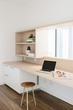 Home Office Modern Design Ideas - Having a home office modern design will give you a fresh atmosphere in your working environment at home. Workspace Design, Office Interior Design, Home Office Decor, Office Interiors, Home Decor, Office Ideas, Tiny Living, Living Spaces, Room Deco