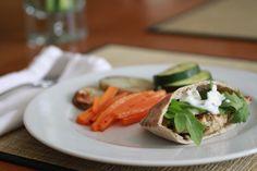 Turkey Burger Surprise Packages with Cucumber Yogurt Sauce | WeeklyGreens.com