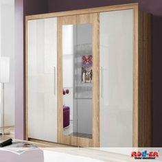 Best Kleiderschrank JULIETTA In diesem modernen Schlafzimmer in der Farbkombination Sonoma Eiche und Wei
