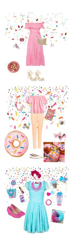 """Donut designs"" by victoriasuek ❤ liked on Polyvore featuring Lisa Marie Fernandez, Cynthia Rowley, Stuart Weitzman, 1928, Bibi Marini, Forever 21, claire's, Topshop, J.Crew and Jimmy Choo"
