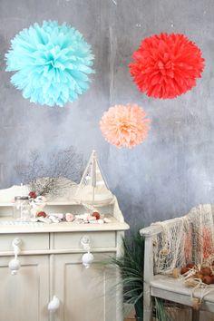 Coral Crush ~ PomPom-Set 3L ~ Sommerkollektion