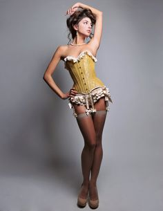 Sasha overbust corset with garters and ruffel panties. Now I just need some extra cash *sigh*.