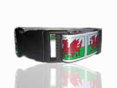 Welsh Dragon Wales Adjustable Dog Collar From £12