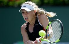 Wozniacki grinds out win to advance against Aliaksandra Sasnovitch at Indian Wells