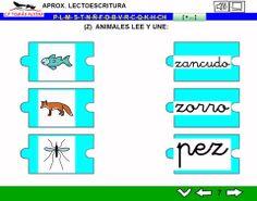 MATERIALES - Aproximación a la lectoescritura: P -L - M - S - T - N - Ñ - F - D - B - V - R (fuerte y suave) - C - K - Q - H - CH - Z- CE - CI.  Libros interactivos multimedia (LIMs) de actividades de aproximación a la lectoescritura para Educación Infantil y 1º ciclo con pictogramas de ARASAAC y fotos en letra cursiva Escolar 2.