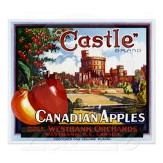 Castle Canadian Apples ~ Vintage Fruit Ad Posters