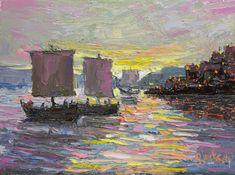 """Cast Your Net,"" Sea of Galilee, 6 x 8 inches, Oil.  Artist, Guy Jackson, www.guyjacksonart.com. Impressionist Art, Art Oil, Jackson, Guy, It Cast, Contemporary, Artist, Painting, Artists"