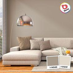 Los sofás en color claro son muy versátiles al momento de combinar. Pinta un muro en un tono cálido para crear un gran contraste #Decoracion #Salar #livingroom