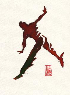 Encres : Capoeira – 376 [ #capoeira #watercolor #illustration]