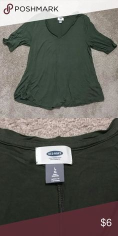 🙌4 tops for $14!🙌hunter Green swing T-shirt Adorable casual top in good condition Old Navy Tops Tees - Short Sleeve