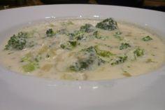 Brocoli and cheddar soup.