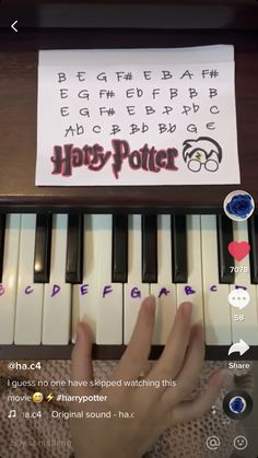 Harry Potter Feels, Harry Potter Puns, Harry Potter Theme, Harry Potter Pictures, Harry Potter Aesthetic, Harry Potter World, Piano Music With Letters, Piano Music Easy, Piano Music Notes