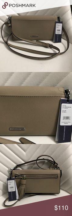 "New Authentic Rebecca Minkoff crossbody bag Saffiano Leather Jill crossbody  Color :sandstone Silver Hardware Approx 8""width  4.5""length   25""maximum drop Adjustable long shoulder strap Rebecca Minkoff Bags Crossbody Bags"