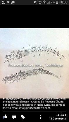 ♡ eyebrow microblading pattern