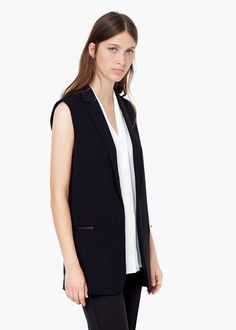 Chaleco largo masculino - Officewear de Mujer | MANGO