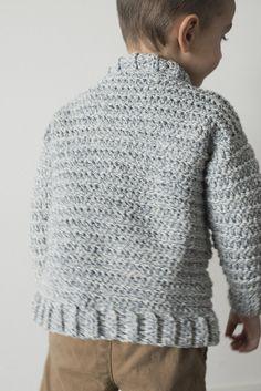 Toddler Boy Crochet Sweater - Free Crochet Pattern — Megmade with Love Crochet Toddler Sweater, Baby Boy Sweater, Crochet Baby Clothes, Crochet For Boys, Boy Crochet, Free Crochet, Baby Sweaters, Crochet Children, Crochet Shawl