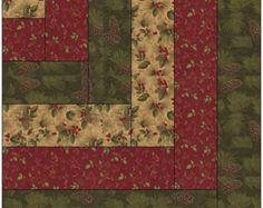 Arce hojas cabaña edredón bloque patrón por QuiltBlocksByAutumn