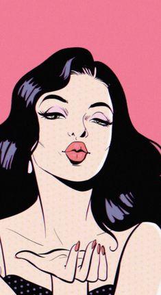 Cartoon Kunst, Comic Kunst, Cartoon Art, Comic Art, Bd Pop Art, Pop Art Girl, Vintage Pop Art, Retro Art, Pop Art Drawing
