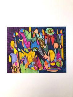 Abstract Art-Abstract Colorful-Art-Abstract Art-Abstract Wall Art- Art Gift-Home Decor-Abstract Decoration -Art