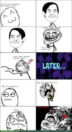 internet memes - Rage Comics: Stickiness is My Penance